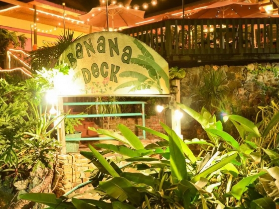 Banana Deck restaurant, on the water, St. John Island USVI